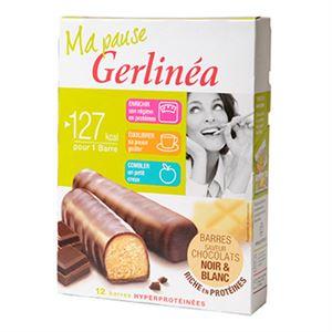 Picture of Barres régime Gerlinéa Chocolat hyperprotéinées 372g